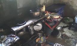 บึ้ม! แก๊สห้องครัวร้านอาหารตามสั่งระเบิด เจ้าของร้านบาดเจ็บ ลูกค้าหนีกระเจิง