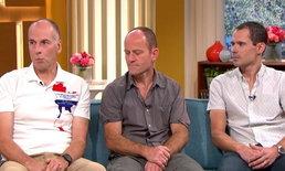 """""""3 นักดำน้ำช่วยชีวิตทีมหมูป่า"""" ออกรายการอังกฤษ """"สแตนตัน"""" สวมเสื้อลายประเทศไทย"""