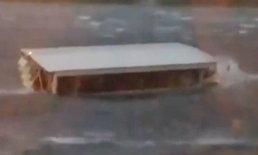 ภาพนาทีอากาศวิปริตแปรปรวน สาเหตุเรือล่มมิสซูรี ดับยกครัว 17 ศพ