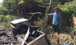 เพลิงไหม้บ้าน-รถถูกเผาวอด แต่เจ้าของไม่ท้อยึดอาชีพเลี้ยงหมู เกิดเป็นคนต้องสู้