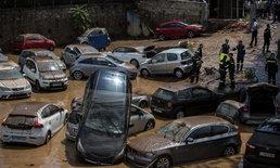 เคราะห์ซ้ำ ฝนถล่มเอเธนส์ น้ำท่วมฉับพลัน หลังเผชิญไฟไหม้ป่ารุนแรง