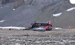 ดับยกลำ 20 ศพ เครื่องบินนำเที่ยวตกบนเทือกเขาแอลป์ สวิตเซอร์แลนด์