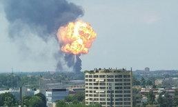 ด่วน! รถบรรทุกน้ำมันเกิดอุบัติเหตุ ระเบิดรุนแรงใกล้สนามบินอิตาลี