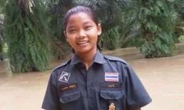 """เผยโฉมฮีโร่สาวน้อยวัย 13 ว่ายน้ำช่วยฝรั่ง """"นักดำน้ำถ้ำหลวง"""" ขับรถตกคลอง"""