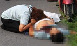 กลับไม่ถึงบ้าน! หนุ่มวินจยย.ถูกยิงตัดขั้วหัวใจดับ ห่อข้าวลูกยังแขวนอยู่ที่รถ