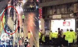 ป้ายหน้าร้านนครเซี่ยงไฮ้ พังถล่มทับคนเดินเท้า เป็นโศกนาฏกรรม 3 ศพ (มีคลิป)