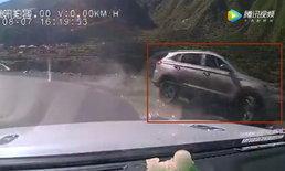 เผยคลิปนาทีชีวิต แก๊งสาวจีนขับรถตกหน้าผา-ดิ่งแม่น้ำ ดับแล้ว 2 ราย