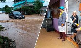 เทศบาลเมืองน่านแจ้งประชาชนเก็บของหนีน้ำ เริ่มทะลักท่วมชุมชนริมน้ำ