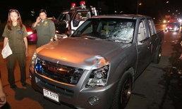 รถชนกันคนขับยืนคุยค่าเสียหาย อีกคันลงสะพานมาพุ่งชนซ้ำ ชายวัย 62 ดับ