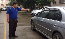 เช้ามากระจกแตก! บ้านเอื้อฯ รถเแน่นเอี๊ยด หนุ่มสุดงงจอดรถขวางถูกปาหินใส่