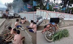 แค่ซ้อม! หนุ่มกู้ภัยโพสต์รูปจำลองอุบัติเหตุ เนียนจนชาวเน็ตตกใจ ลั่นเอฟเฟ็กต์สมจริง
