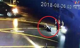 ตามล่าคนขับรถชนซ้ำ หนุ่มนอนเจ็บกลางถนน โดนลากร่างไปเกือบกิโล