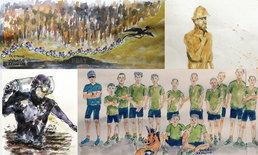ศิลปะบันทึกประวัติศาสตร์ ช่วย 13 ชีวิตในถ้ำหลวง ผลงานนายแพทย์วัย 57 ปี