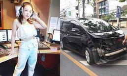 """""""ดีเจดาด้า"""" เดือด แค่เปลี่ยนยางรถ แต่พนักงานนำไปทดลองขับ จนเกิดอุบัติเหตุ"""