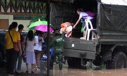 ฝนกระหน่ำ น้ำท่วมบ้านพักโรงพยาบาลและโรงเรียนบึงกาฬครั้งที่ 3 ในรอบ 2 เดือน
