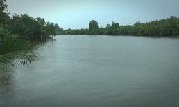 ชาวบ้านแหลมผวา มองเห็นจระเข้ลอยคอในแม่น้ำเพชรบุรี