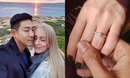 """""""บอย พิษณุ"""" โชว์แหวนเพชรเม็ดงาม ใกล้วันแต่งงาน ยิ่งตื่นเต้น"""