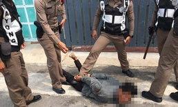 หนุ่มกัมพูชาหลอนจัด-เสพยาบ้าจนขาดสติถือมีดไล่ฟันคน ก่อนถูกตำรวจรวบทันควัน