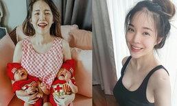"""""""บัว สโรชา"""" คลอดลูกแฝด 4 เดือน น้ำหนักลดเหลือ 44 กิโล สวยเป๊ะเร็วมาก"""