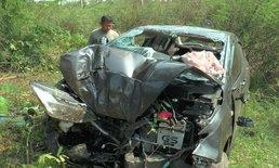 ทหารพรานบึ่งรถกลับฐานหลังปฏิบัติหน้าที่ พุ่งชนต้นไม้ตายคาที่ 3 สาหัส 1