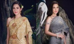"""""""แหม่ม คัทลียา"""" สวมชุดไทยสวยดั่งนางในวรรณคดี  หลายคนคิดถึงแม่นกยูงเรือนมยุรา"""