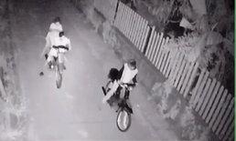 ไม่รอด! กล้องวงจรปิดจับเยาวชนริเป็นหัวขโมย ลักจักรยานยนต์ที่ชัยภูมิ