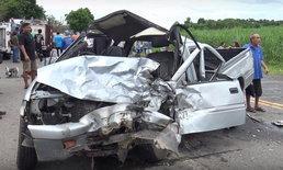 รีบไปงานศพญาติ รถยนต์ประสานงาทางโค้งตาย 1 บาดเจ็บหลายราย