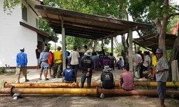 ชาวบ้านบุกโรงสูบน้ำ ร้องชลประทานชี้แจงเครื่องสูบชำรุดซ้ำซาก-ไม่มีน้ำทำเกษตร