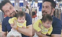 """เมื่อ """"ลุงจอนนี่"""" เจอกันครั้งแรกกับ """"หลานวีจิ"""" ลูกหนุ่ม ศรราม ชมเปาะน่ารักมาก"""