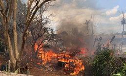 ไฟไหม้บ้านพักคนงานโรงงานผลิตเฟอร์นิเจอร์ เผาวอด 20 หลัง