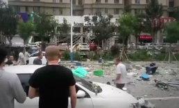 ร้านค้าระเบิดใจกลางเมืองจีน อาคารทรุดพังถล่ม ผู้คนนึกว่าแผ่นดินไหว