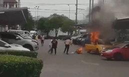 ลุงแท็กซี่ถูกไฟไหม้รถคลอกกลางห้างดัง ล่าสุด เสียชีวิตแล้ว