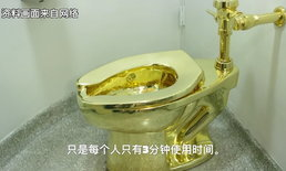"""อังกฤษจัดแสดง """"ส้วมทองคำแท้"""" ให้ดูแค่ 3 นาที เก็บเงิน 1,000 บาท"""