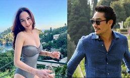 """ภาพเด็ดจากอิตาลี """"อั้ม พัชราภา"""" กับชุดว่ายน้ำสุดเซ็กซี่ หวานใจ """"ไฮโซพก"""" ถ่ายให้หรือเปล่า"""