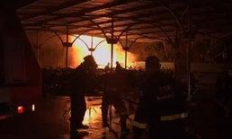 ไฟไหม้วอดโกดังเก็บรถมอเตอร์ไซค์รอประมูล วอดวายเสียหายร้อยคัน