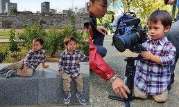 """""""ชมพู่"""" พาลูกๆ เที่ยวญี่ปุ่น """"น้องสายฟ้า"""" ฉายแววตากล้องสุดหล่อ"""