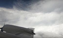 """ภาพน่าตื่นตา บินตรงเข้าสู่ """"ดวงตาพายุ"""" เฮอร์ริเคนลูกใหญ่แห่งปี"""