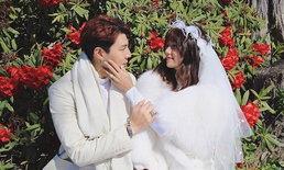 """""""โดม"""" กลั้นน้ำตาแห่งความสุขไม่อยู่ เปิดคลิปร้องไห้ตอนขอ """"เมทัล"""" แต่งงาน"""