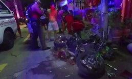น้องหนุ่มขี่บิ๊กไบค์ล้มขาหัก ยืนยันไม่ได้ยกล้อซิ่งหนีตำรวจ เผยเจอรถตัดหน้าเลยเบรกไม่ทัน