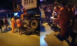 หวิดดับ-อุบัติเหตุกระบะชนเก๋งพลิกคว่ำบาดเจ็บ 1 ราย