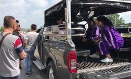 คนร้ายปาหินรถสองแถว ส่งผลให้มีนักเรียนได้รับบาดเจ็บ 1 ราย
