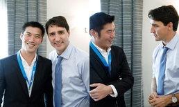 """นายกฯ แคนาดา ถ่ายรูปคู่ """"ธนาธร"""" ลั่นเอาใจช่วยทวงคืนประชาธิปไตย"""
