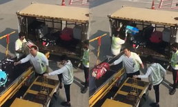 การบินฮ่องกงขอโทษ หลังมีคลิปแฉพนักงานโยนกระเป๋าผู้โดยสาร