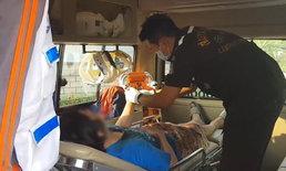 หนุ่มน้อยใจแฟนด่า ปาดคอ-กรีดแขนตัวเอง เดินเลือดท่วมกลางถนน