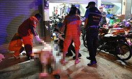 """โจรแสบย่องลัก """"อะไหล่จักรยานยนต์"""" เจ้าของร้านวิ่งออกมาไล่ถูกยิงดับอนาถหน้าร้าน"""