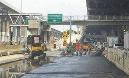 ซ่อมใกล้เสร็จ เตรียมเปิดสะพานเข้าสนามบินดอนเมือง 12 พ.ย.นี้