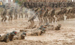 ทหารจีนแผ่นดินใหญ่ เข้าฝึกฝนมหาโหด ดุจหงส์เหล็กแดนมังกร