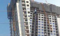 เครนก่อสร้างคอนโดฯ สูง ย่านเทพารักษ์ พังถล่มทับคนเสียชีวิต