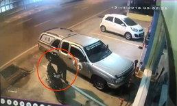 หนุ่มสวมหมวกกันน็อก ย่องเงียบขโมยรถจักรยานยนต์ เร่งตามตัวดำเนินคดี