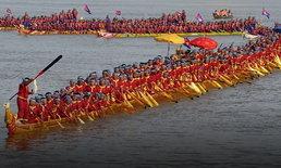 """""""เรือมังกรกัมพูชา"""" โค่นสถิติเรือมังกรจีน ขึ้นแท่นยาวสุดในโลก 87.3 เมตร"""